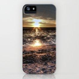 Dark moody sunset iPhone Case