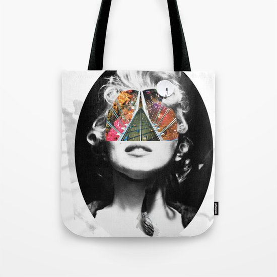 Marilyn, Hugo and Me Collage Tote Bag