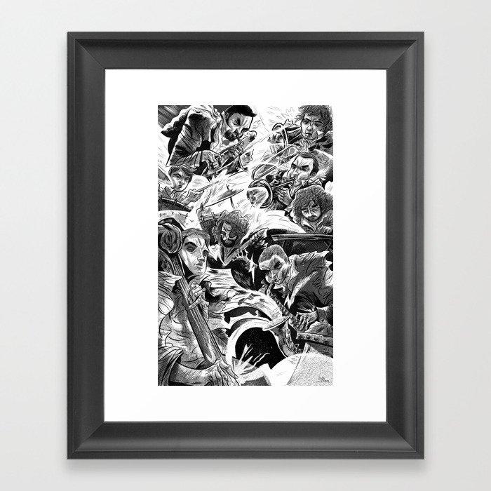 """""""Milkbread"""" band poster Framed Art Print"""
