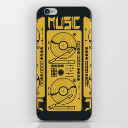 Music Gramophone Circle iPhone Skin