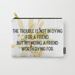 Finding a friend - Mark Twain Collection Carry-All Pouch