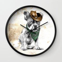 Cowboy Dog Wall Clock