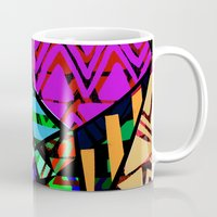 honeycomb Mugs featuring Honeycomb by Sarah Bagshaw