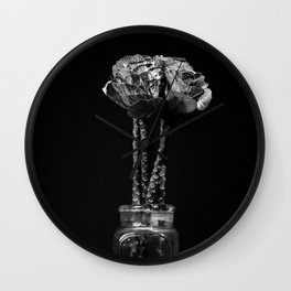 Funny flowers. Wall Clock