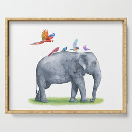 All Aboard The Exotic Elephant Taxi Service Serving Tray