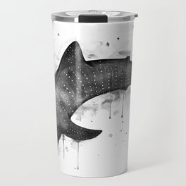 Whale shark, black and white Travel Mug