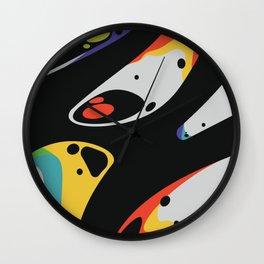 CMYK Drip Wall Clock