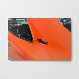 American muscle - orange Metal Print