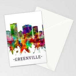 Greenville South Carolina Skyline Stationery Cards