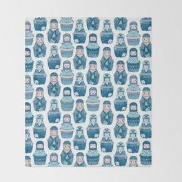 Matrioshkas Pattern Throw Blanket