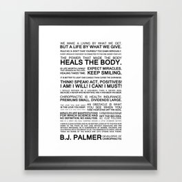 Epigrams & Quotes from B.J. Palmer Framed Art Print