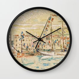 """Paul Signac """"La Rochelle, bateaux pavoisés"""" Wall Clock"""