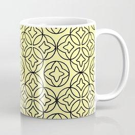 Arabesque Ancient Pattern Illustration in Honey Yellow Coffee Mug