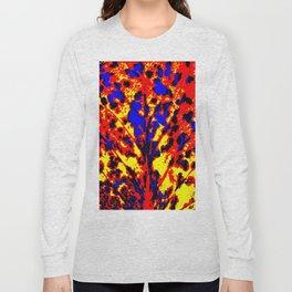 Fire Tree Pop Art Long Sleeve T-shirt