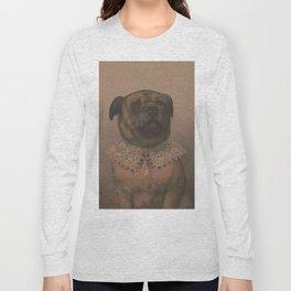 Vintage Sophisticated Dog Illustration (1878) Long Sleeve T-shirt