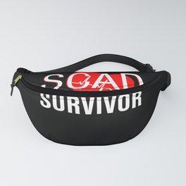 SCAD Survivor Heart Attack T-Shirt Women Warrior Fanny Pack