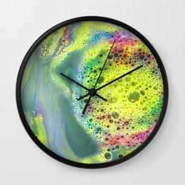 Rainbow Bubbles Wall Clock