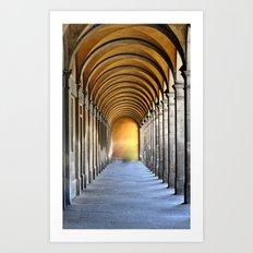 Golden Row Art Print