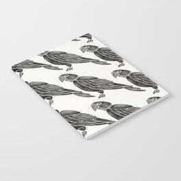 Perched Parrot – Black Palette Notebook