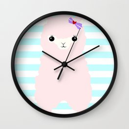 Alpaca In Love  Wall Clock