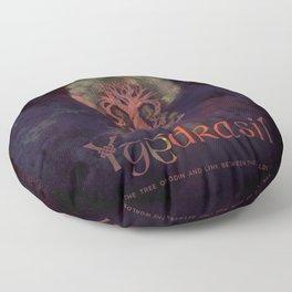 Yggdrasil, the world tree! Floor Pillow