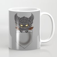 warcraft Mugs featuring Dragon Pocket Tee by SlothgirlArt
