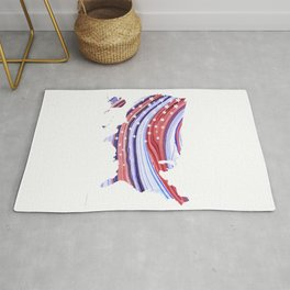 Unique Red White And Blue - USA Map 27 - Sharon Cummings Rug