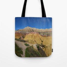 Colorful Badlands Landscape Tote Bag
