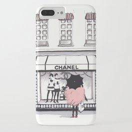 Shopping In The Rain iPhone Case