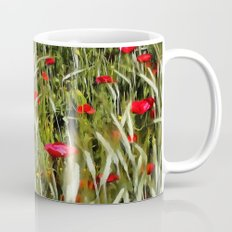 Red Poppies In A Cornfield Mug