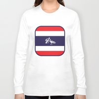 thailand Long Sleeve T-shirts featuring Thailand Flag, Roosters Sparring by mailboxdisco