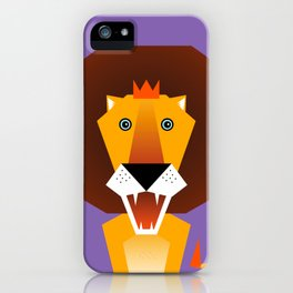 Lion – Childrens Room Illustration for Boys and Girls iPhone Case