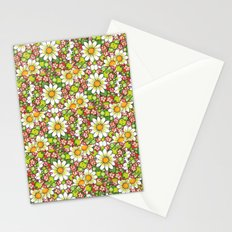 Christmas Daisy and Berries Pattern Stationery Cards