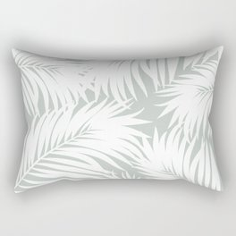 Palm Tree Fronds White on Rainwashed Maui Hawaii Tropical Graphic Design Rectangular Pillow