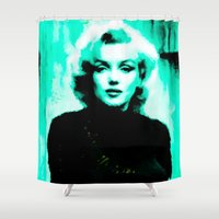 marilyn Shower Curtains featuring Marilyn *** by Mr and Mrs Quirynen