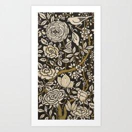 Nouveau Birds And Flowers Art Print