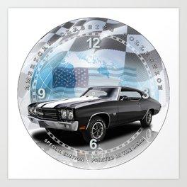 "1970 Chevrolet Chevelle SS Decorative 10"" Wall Clock (003ac Art Print"