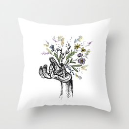 Flower-power Throw Pillow