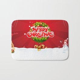 Merry Christmas Pillow Bath Mat