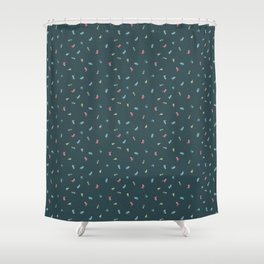 Space Cats! tiling pattern Shower Curtain
