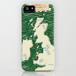 Vintage Victorian British Isles Map iPhone Case