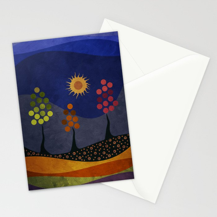 Paisaje y color Stationery Cards
