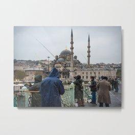 Galata Bridge, Istanbul, Turkey Metal Print