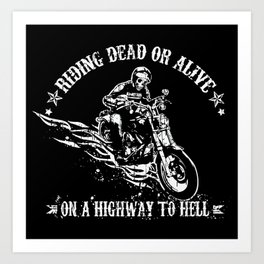 Highway to Hell Art Print
