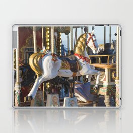 Wooden horse riding Laptop & iPad Skin