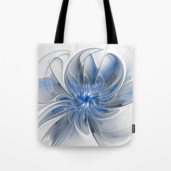 Abstract Art with Blue Tote Bag