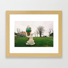 GRAND RESORT SERIES. Ice Cream Bear, Piran, Mediterranean Sea, Color Film Photo Framed Art Print