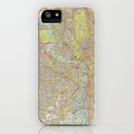 Vintage Map of London England (1910) iPhone Case