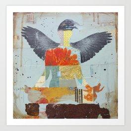 Crow Collage Art Print