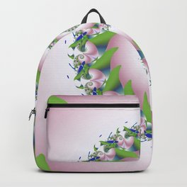 Pink Pearl Abstract Fractal Art Backpack